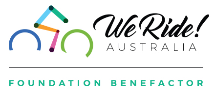 We Ride Foundation Benefactor Horizontal Logo