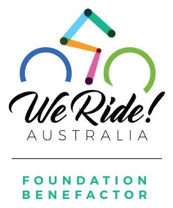 We Ride Foundation Benefactor Vertical Logo
