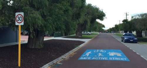 An example of a Safe Active Street in Perth WA